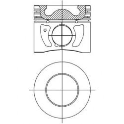 Piston + Segman 89,9mm STD Çap TRANSİT V348 - 3.2 TDCI / 200 PS