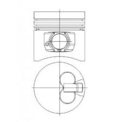 Piston + Segman 80,51mm Çap - 0,50 - ESCORT(VAN) - FİESTA(VAN) - ORİON DIESEL / 54 PS