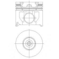 Piston + Segman 89,90 mm STD Çap TRANSİT V184 - 2.4 TDCI / 120 PS