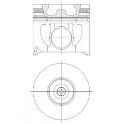 Piston + Segman 90,40 mm 0,50 Çap TRANSİT V184 - 2.4 TDCI / 120 PS